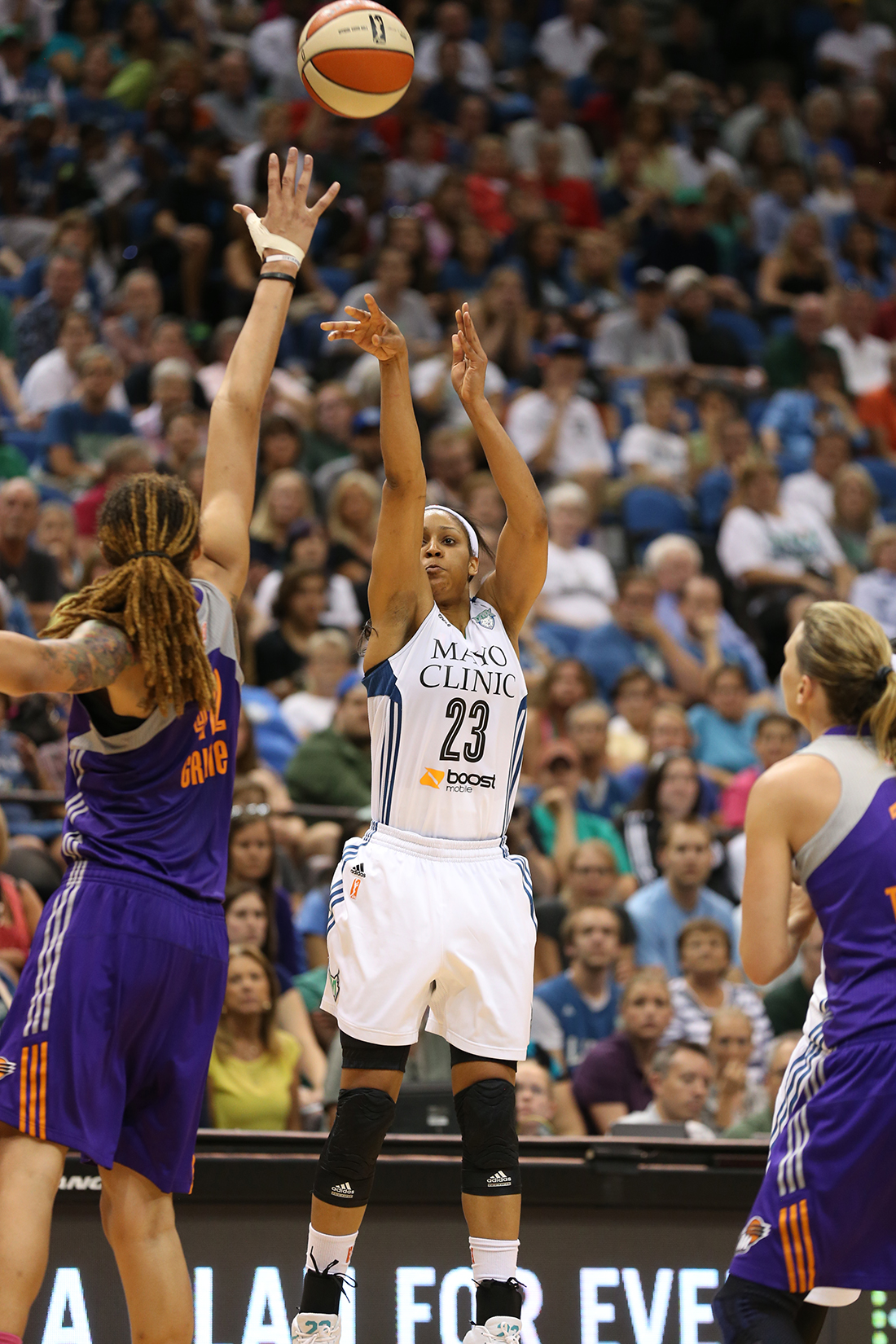Maya Moore Copyright 2014 NBAE (Photo by Jordan Johnson/NBAE via Getty Images)