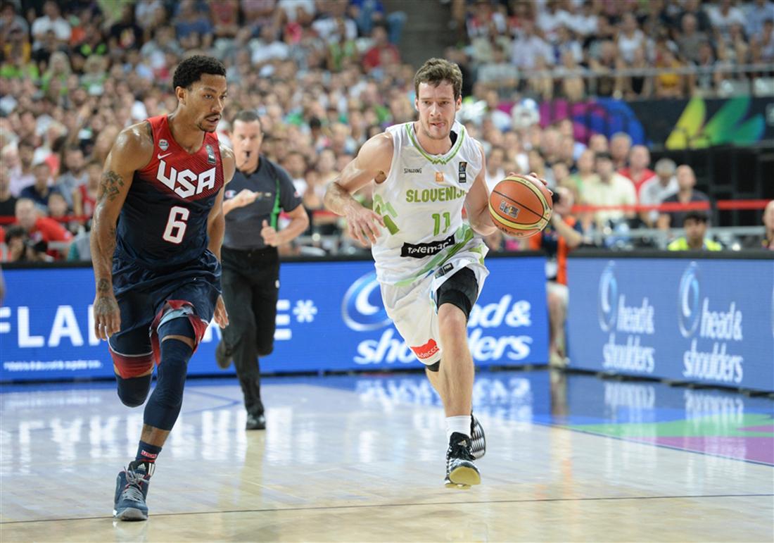 Estados Unidos derrota sin piedad a Eslovenia en viva basquet