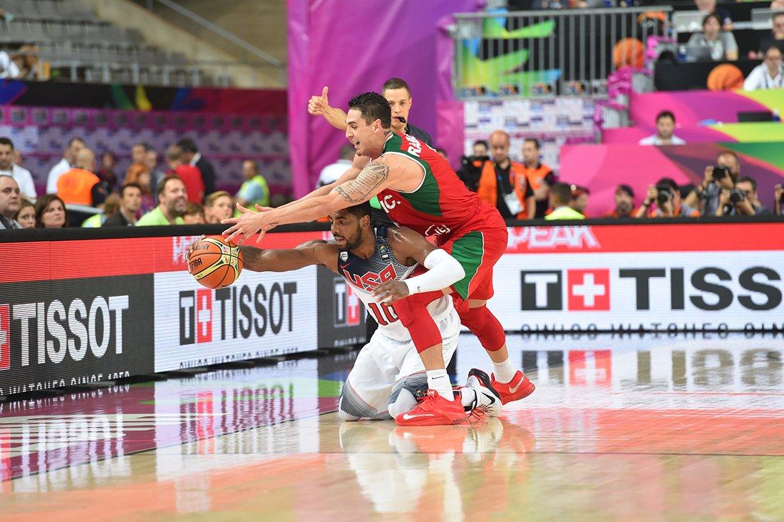 Marco Ramos en octavos de final contra estados unidos en viva basquet