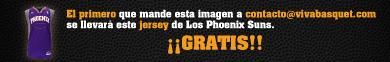Promoción Viva Basquet, llévate un Jersey Gratis de los Suns de Phoenix