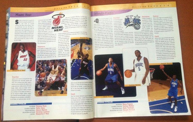 Revista de viva básquet numero 124. Octubre del 2004