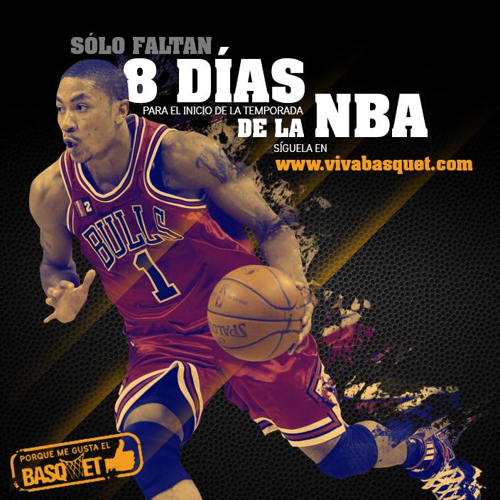 Sólo faltan 8 días para el inicio de la temporada de la NBA 2014.