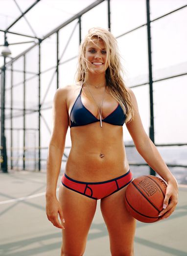 Brittany Jackson en un post de viva basquet