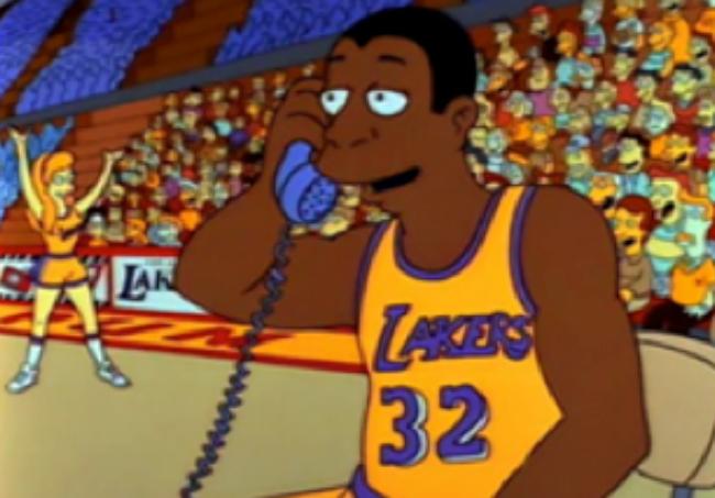 Jugadores de la NBA en los Simpson.