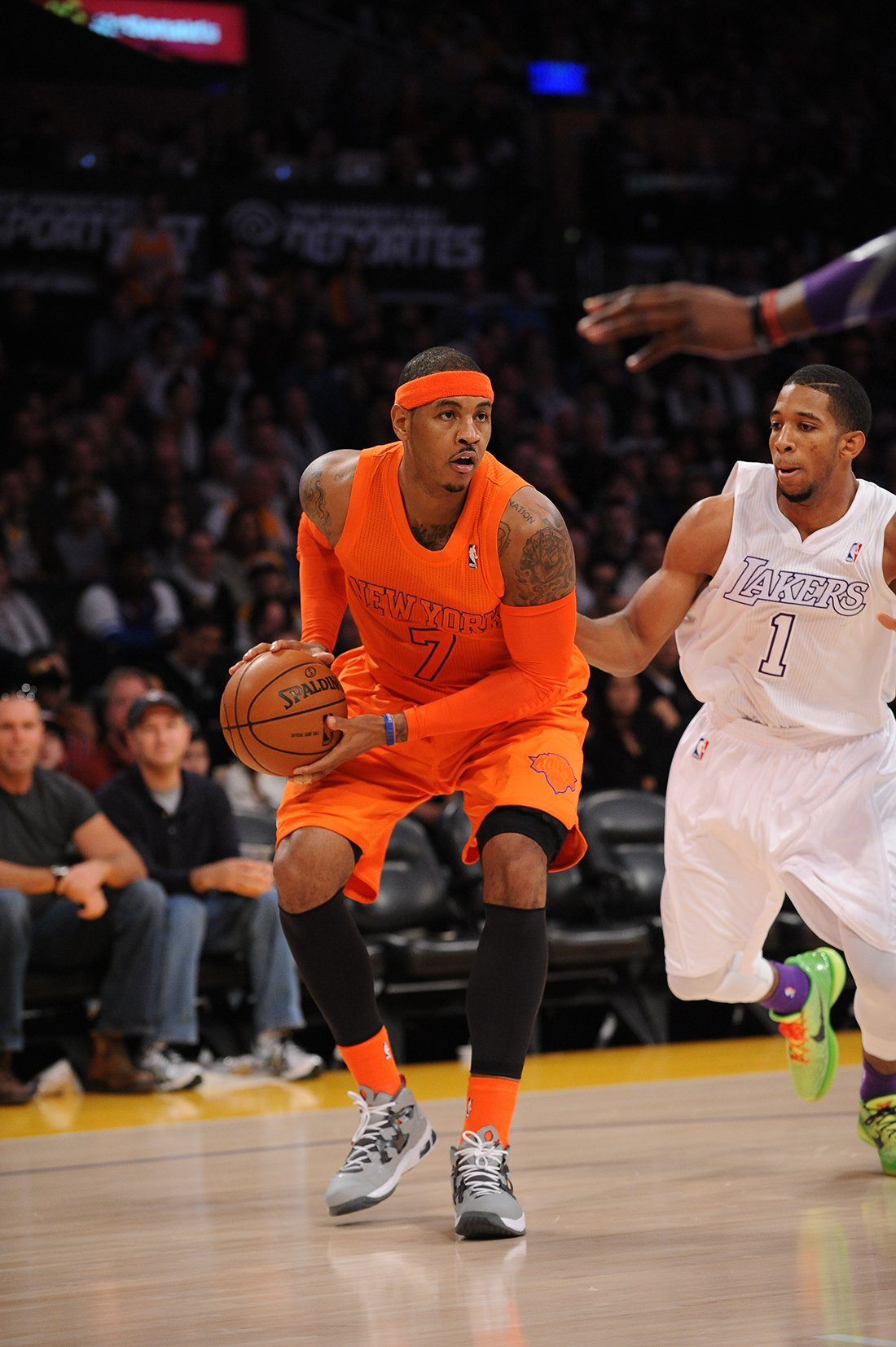 Carmelo Anthony Copyright 2012 NBAE (Photo by Noah Graham/NBAE via Getty Images)