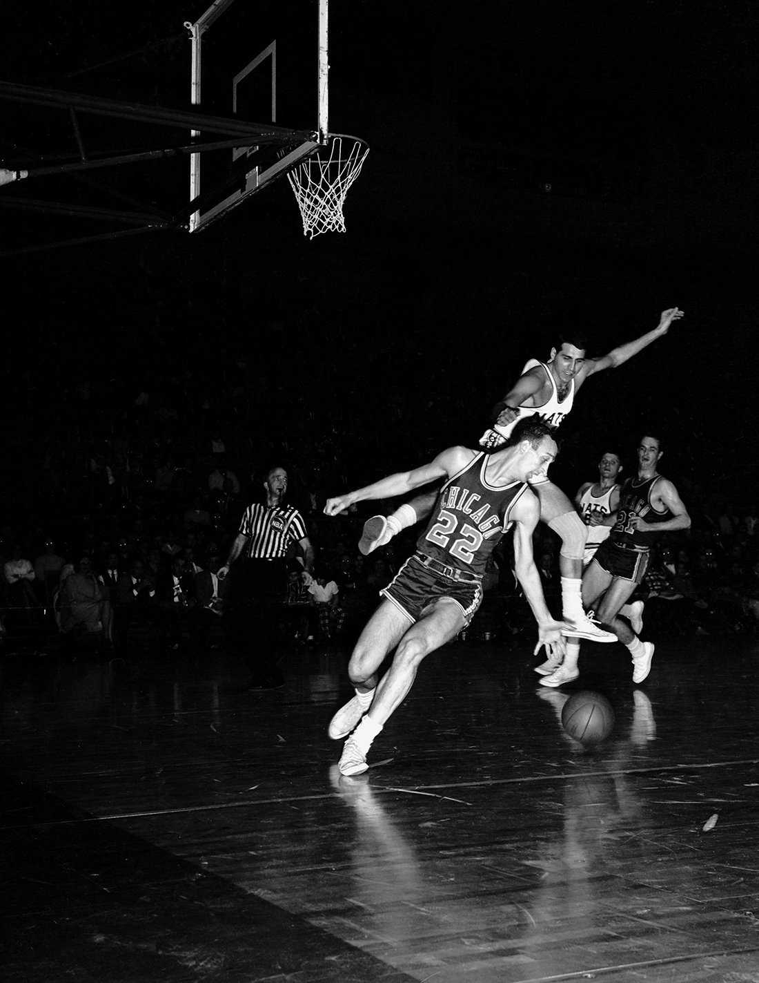 Chicago Stags Copyright 1948 NBAE (Photo by NBA Photos/NBAE via Getty Images)