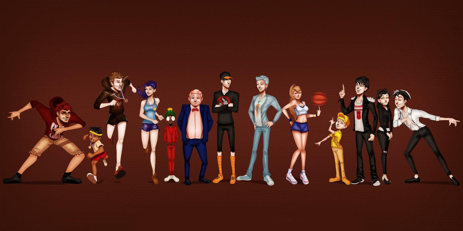 ¿Cómo se verían los personajes de Space Jam si fueran personas?