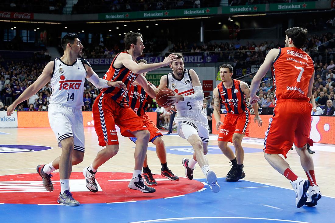 Cerrado triunfo del Real Madrid en la Liga Endesa por viva basquet