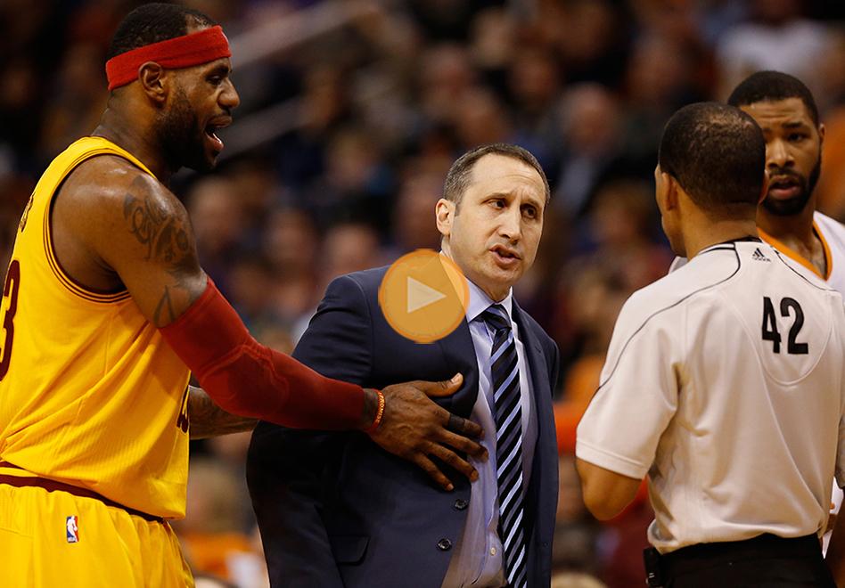 LeBron y el empujón a David Blatt por viva basquet.