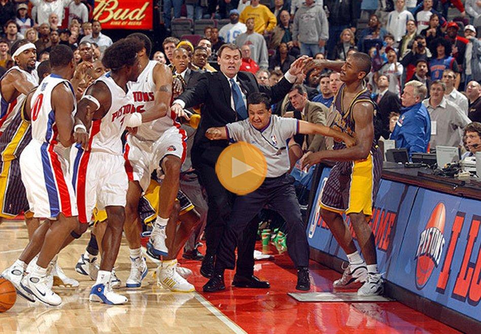 Las peleas mas rudas de basquetbol