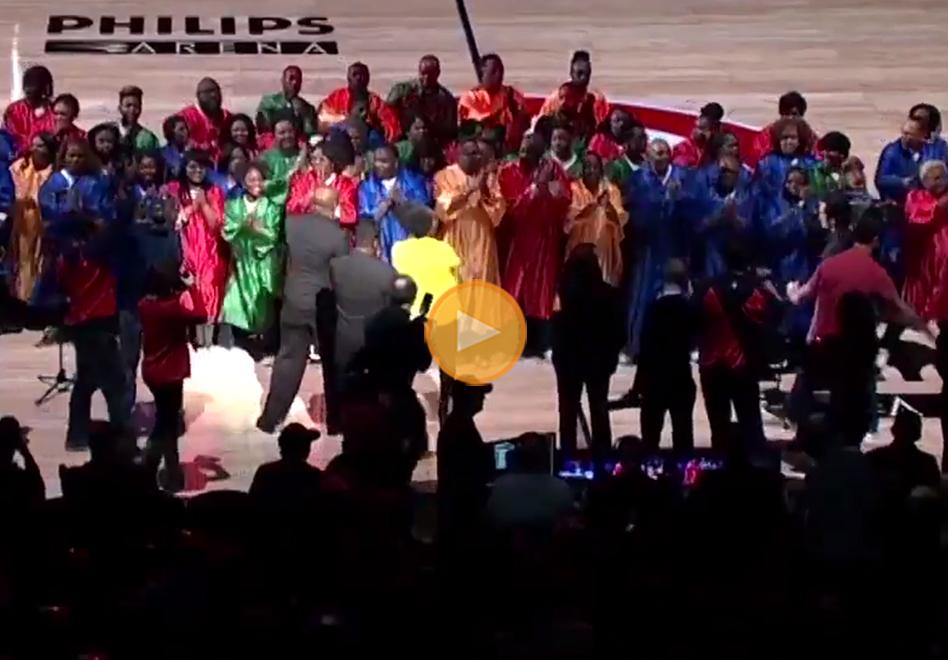 Espectacular presentación de los Atlanta Hawks por viva basquet