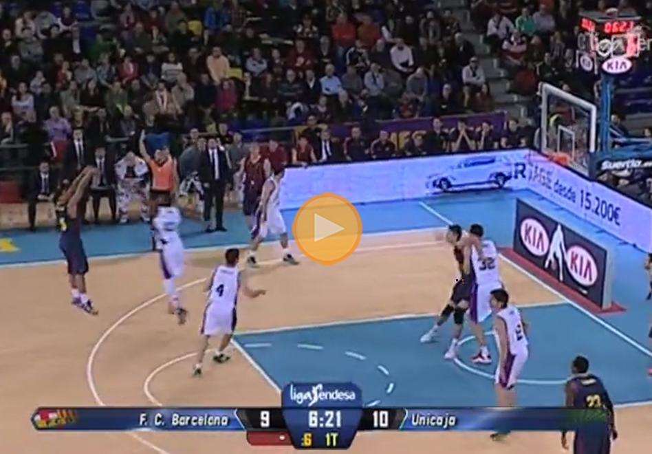 Espectacular victoria del Barcelona sobre Unicaja en la Liga Endesa por viva basquet