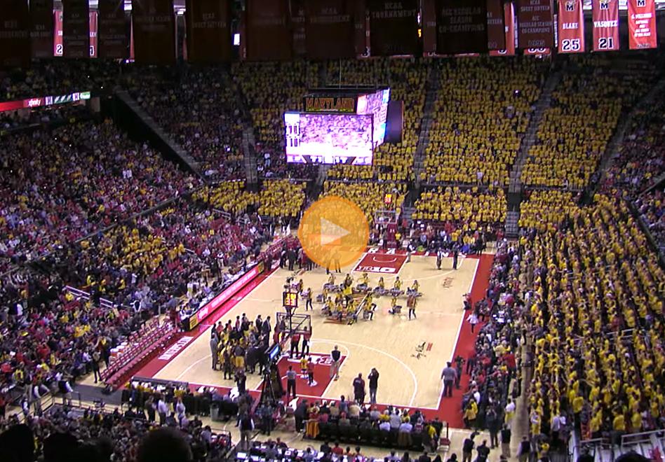 Así se divierten en la Universidad de Maryland por viva basquet