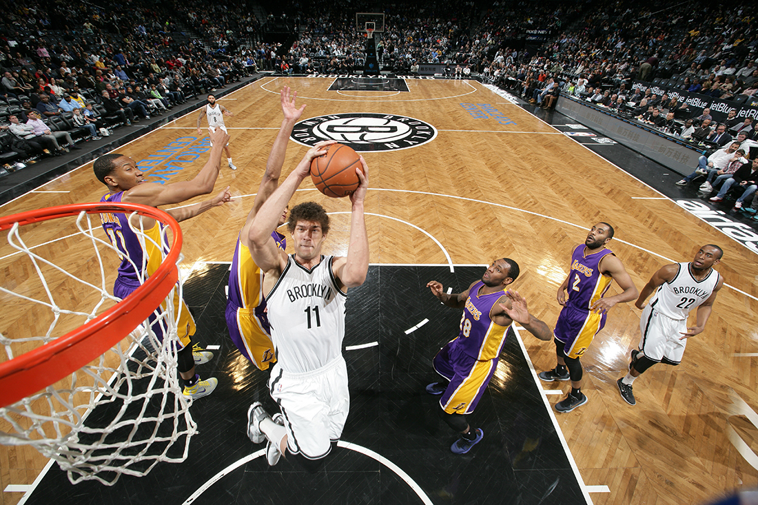 Brook Lopez Copyright 2015 NBAE (Photo by Nathaniel S. Butler/NBAE via Getty Images