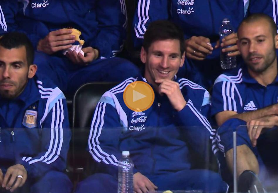 Lionel Messi en casa de los Wizards por Viva Basquet