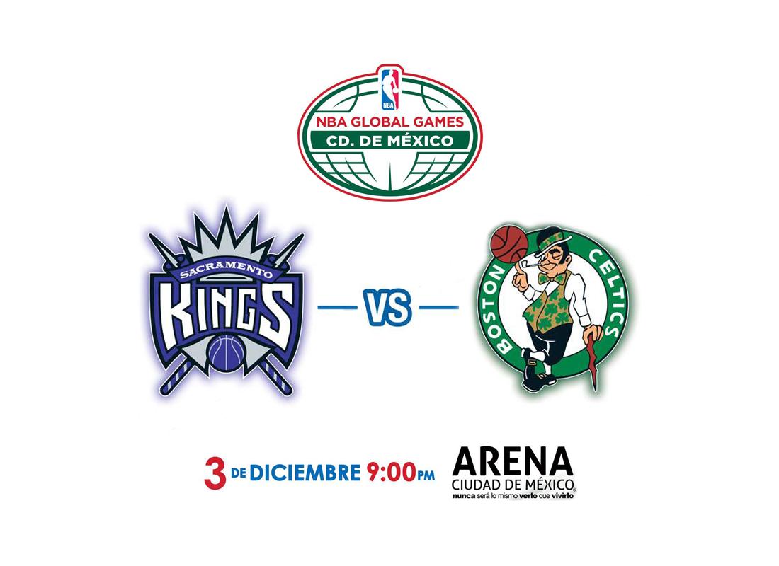 Oficial: Celtics y Kings en México por viva basquet
