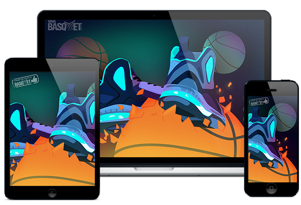 Wallpaper Tennis Neon por Viva Basquet