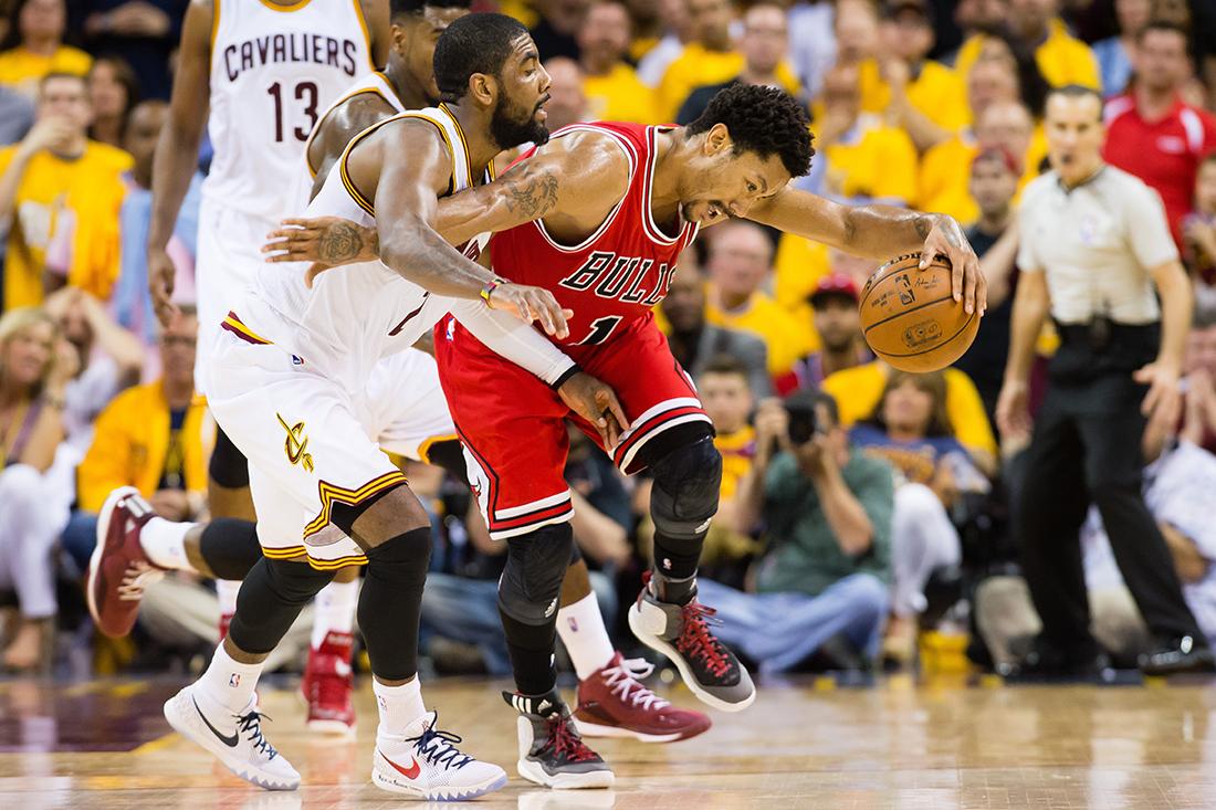 Primer juego de Bulls vs cavs en los playoffs de la nba y yLos Bulls se llevan la victoria por viva basquet