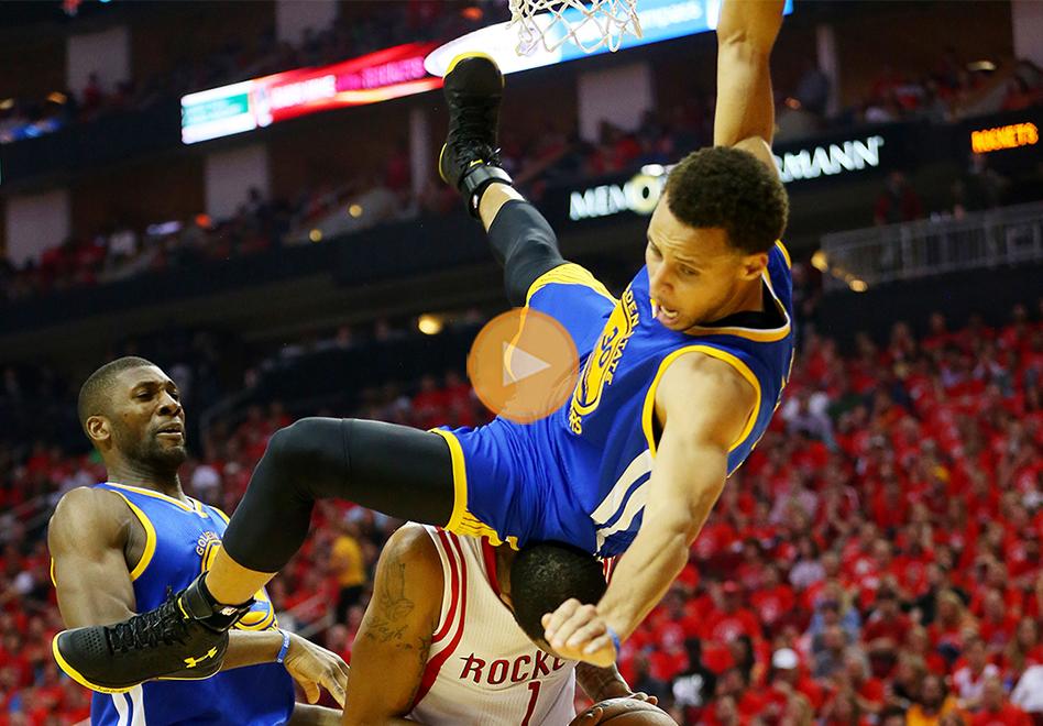 Stephen Curry y su dramática caída por viva basquet