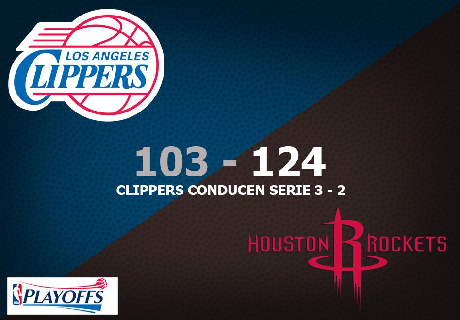 Houston renace cual Fénix con una victoria de 124 -103 sobre los Clippers por viva basquet
