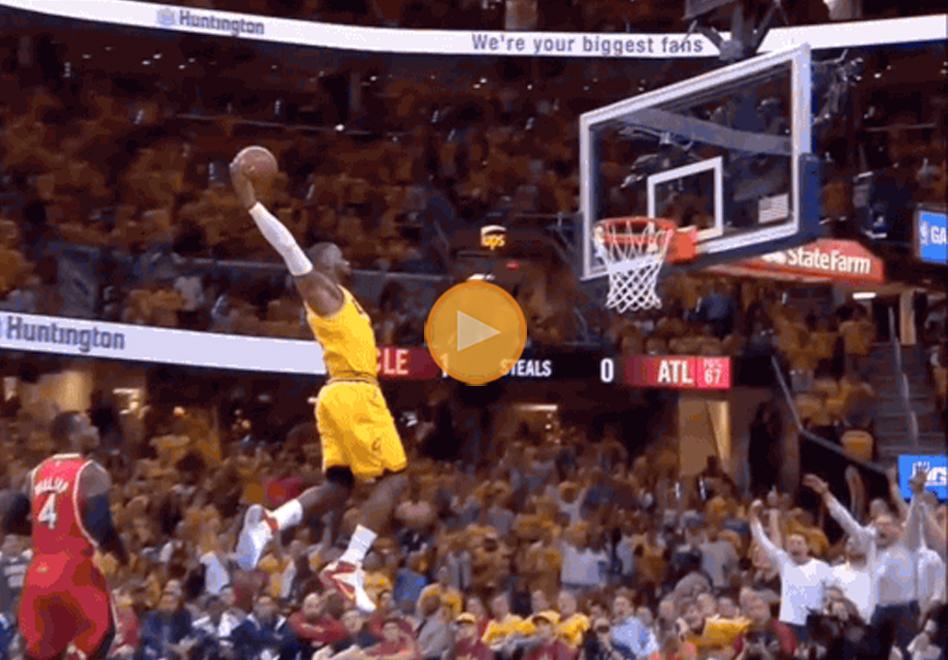 La clavada de LeBron que desafió la gravedad por viva basquet