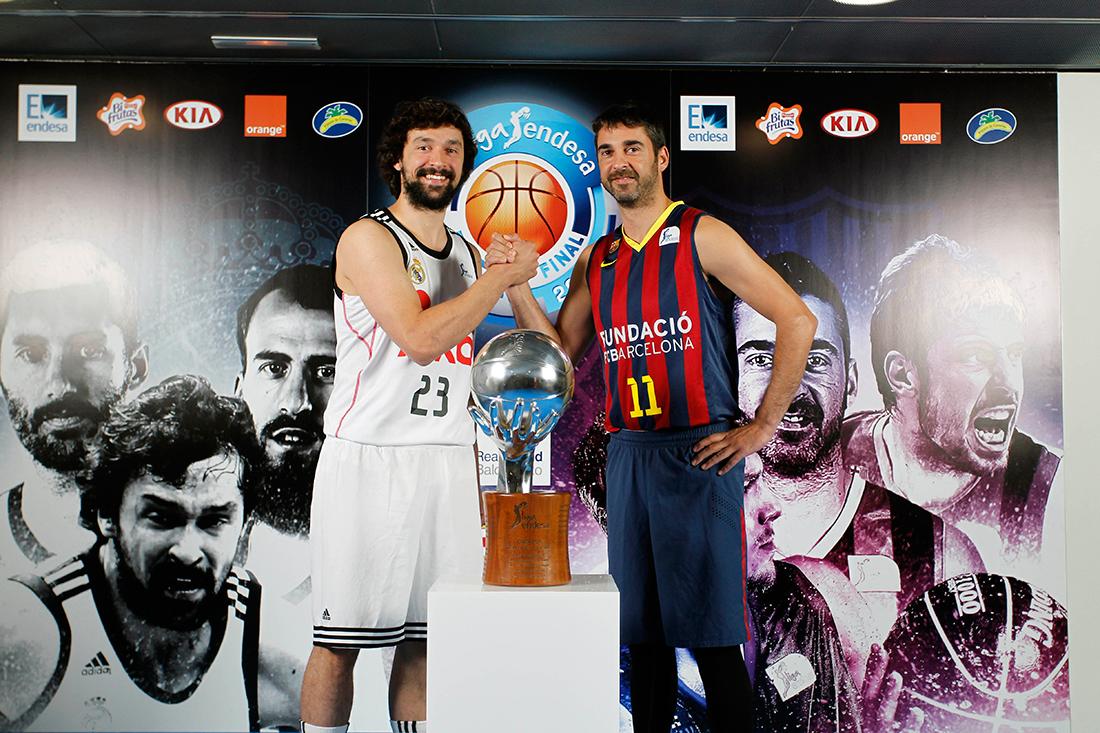 real madrid contra el barcelona en la batalla final en la liga endesa por viva basquet
