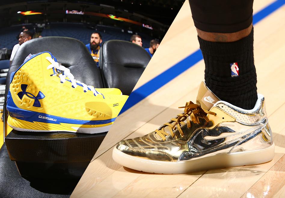 LeBron y Curry presumen sneakers por viva basquet