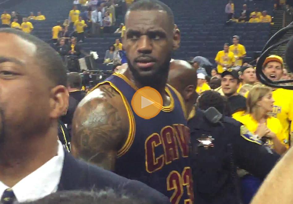 fanatica de los warriors insulta a Lebron james por viva basquet