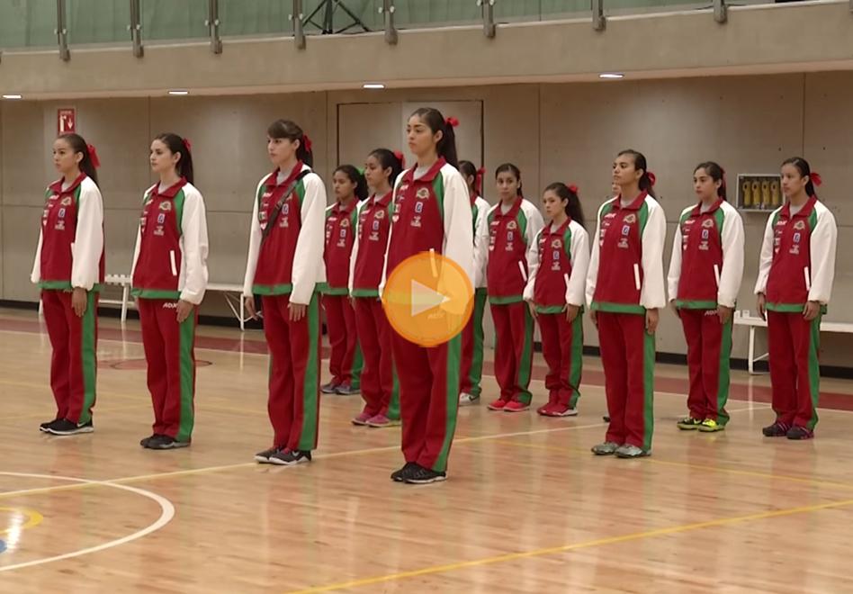 Las chicas de la Sub-16 Femenil fueron abanderadas por viva basquet