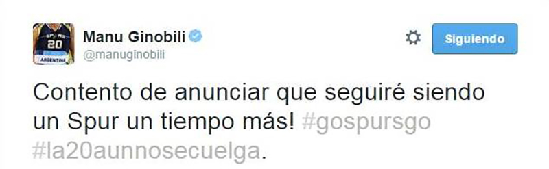 Manu Ginóbili vuelve con Spurs por Viva Basquet