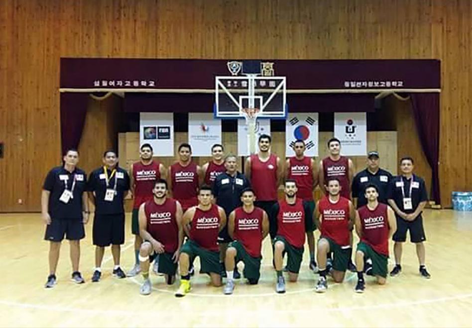 la Selección Mexicana de Basquetbol preparan el debut en el torneo de la Universiada de Gwangju 2015