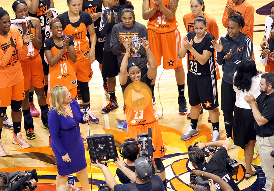 Maya Moore se roba el show en el WNBA All-Star Game