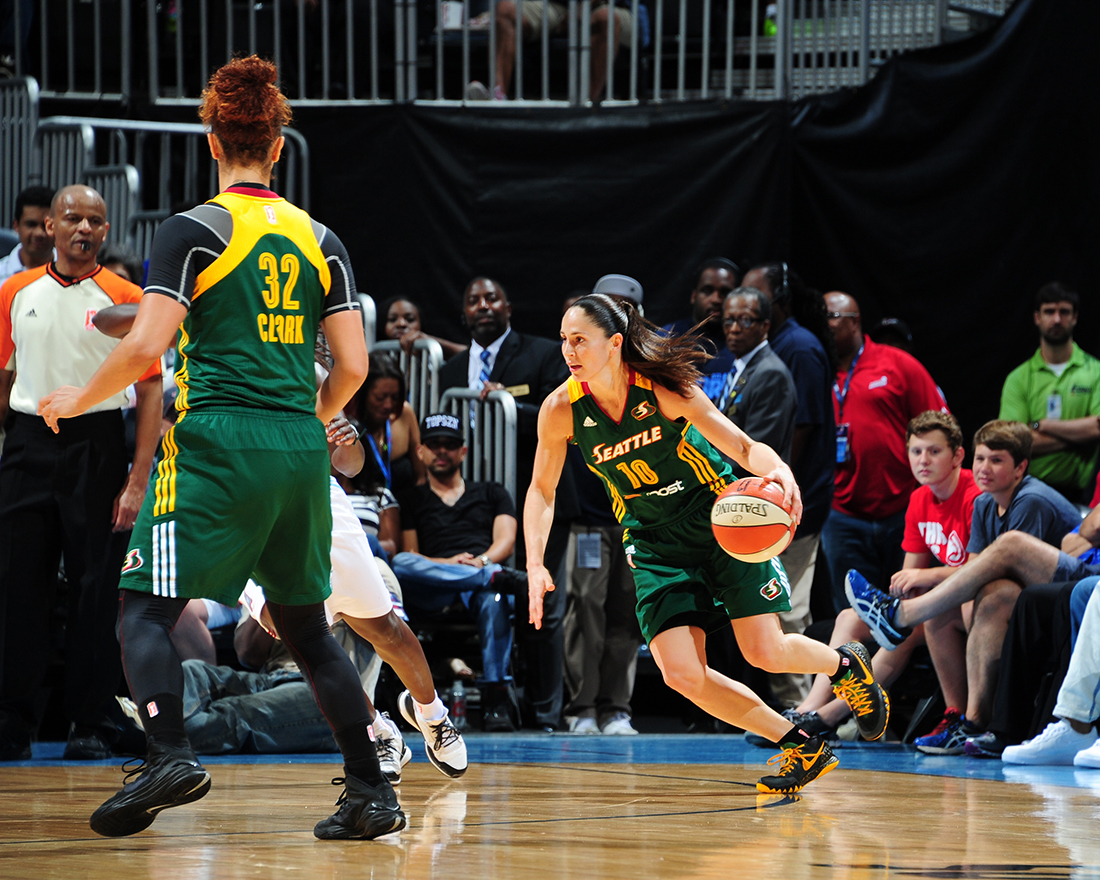 Sue Bird Copyright 2015 NBAE (Photo by Scott Cunningham/NBAE via Getty Images