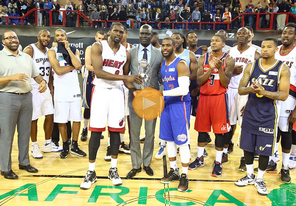 África vivió el sueño NBA