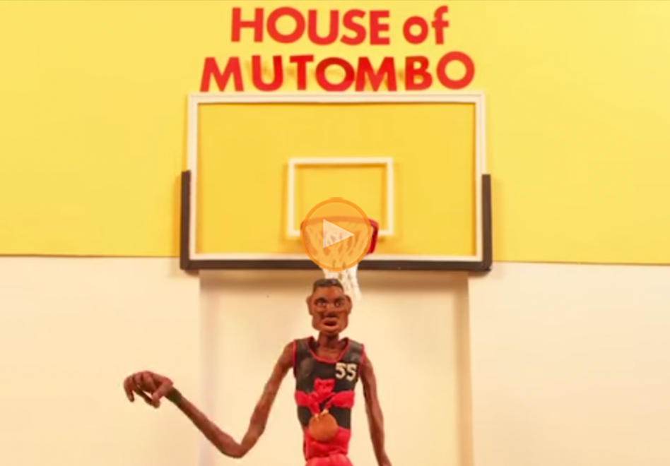 animacion de Dikembe Mutombo el inmortal presentado por viva basquet