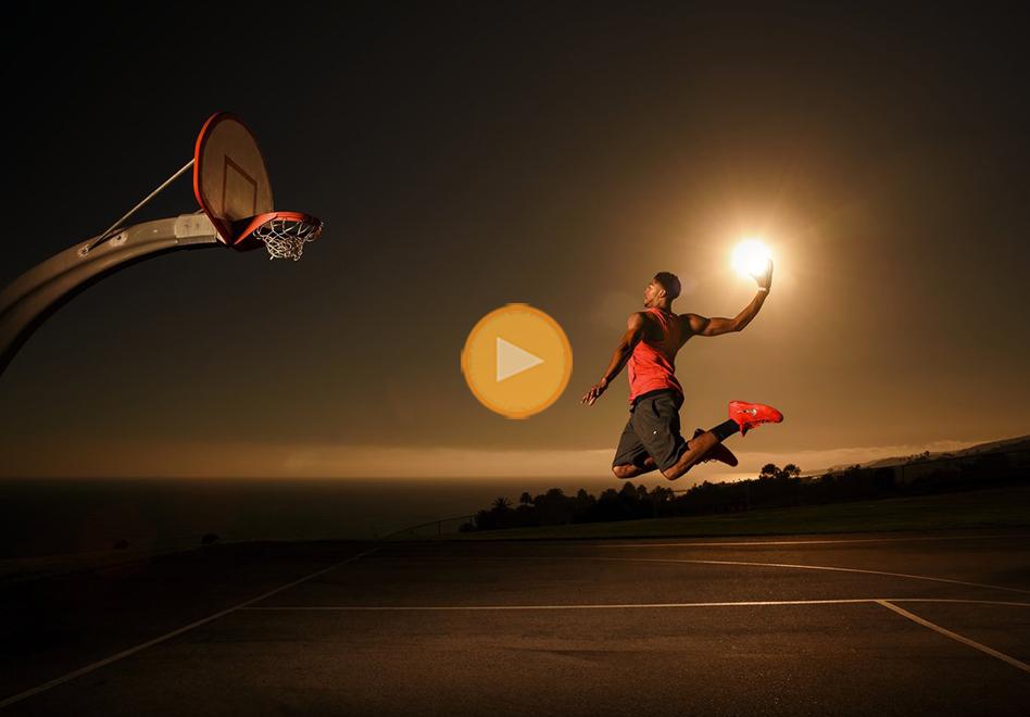 increibles fotos de red bull y Anthony Davis clavando el sol