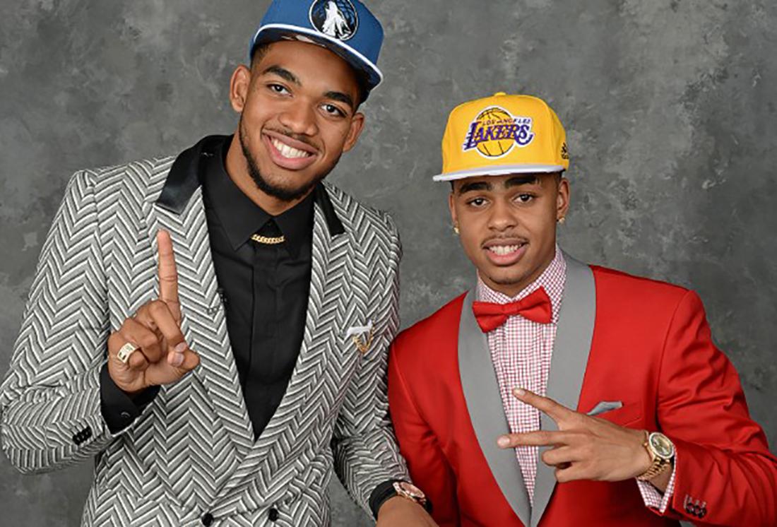 Karl-Anthony Towns de Minnesota y D'Angelo Russell de los Lakers los novatos que estan haciendo historia