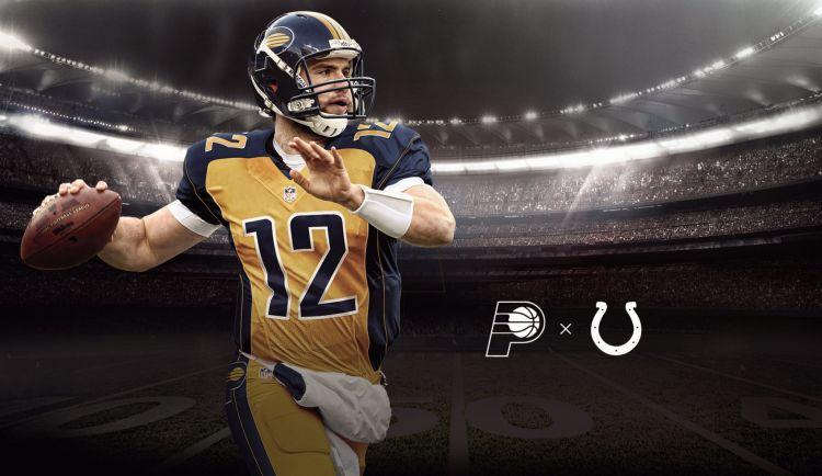 simulación de los jerseys de la NFL como si fueran los equipos de la NBA