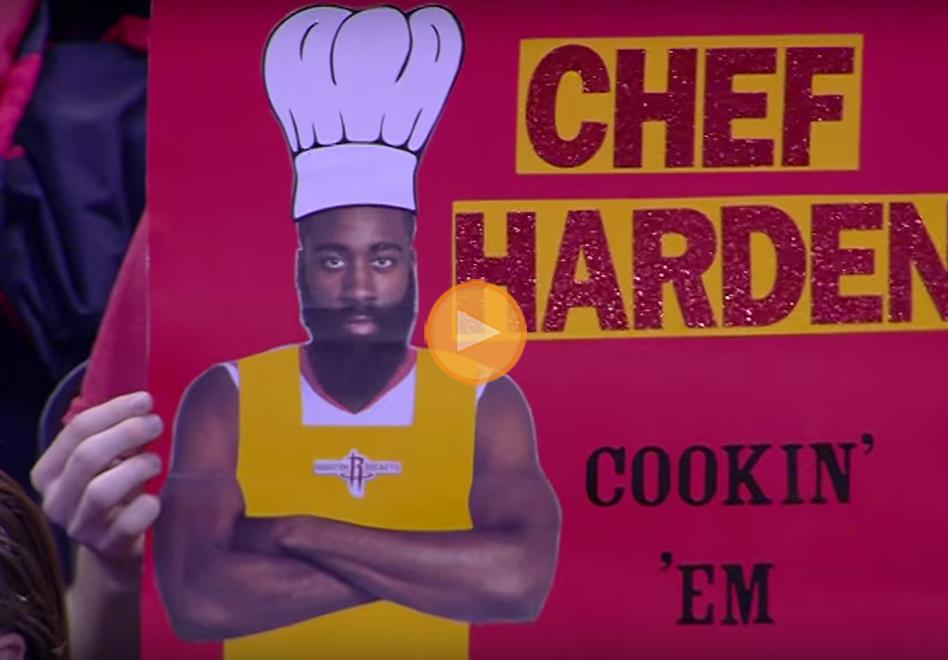 El chef harden cocinando victorias