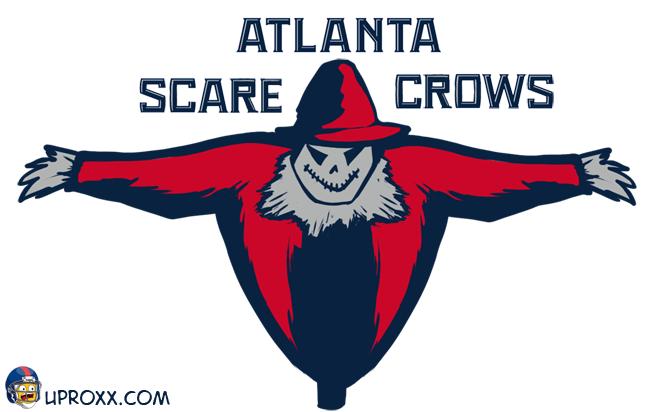 Los logos de la NBA al estilo Halloween, atlanta