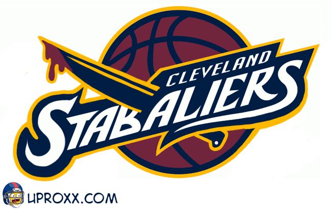 Los logos de la NBA al estilo Halloween, cleveland