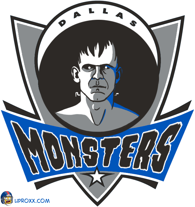 Los logos de la NBA al estilo Halloween, dallas