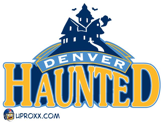 Los logos de la NBA al estilo Halloween, denver