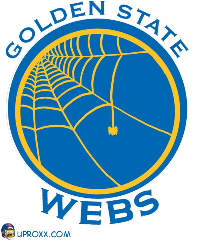 Los logos de la NBA al estilo Halloween, goldenstate