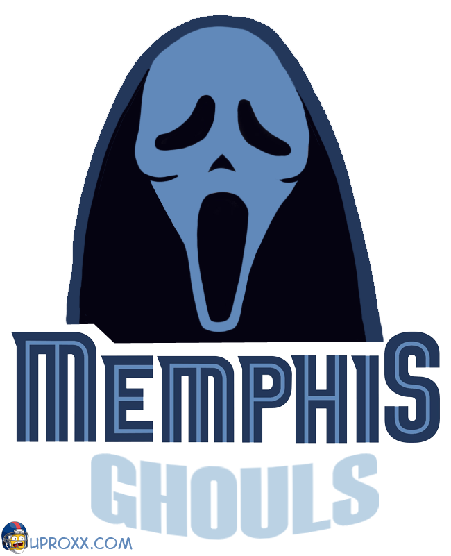 Los logos de la NBA al estilo Halloween, memphis
