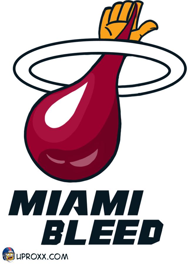 Los logos de la NBA al estilo Halloween, miami