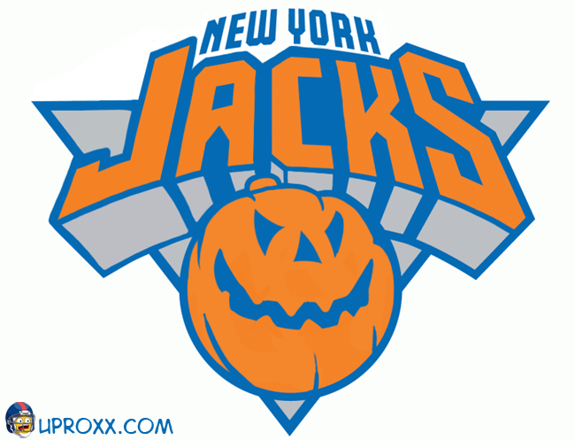 Los logos de la NBA al estilo Halloween, new-york