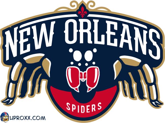 Los logos de la NBA al estilo Halloween, neworleans