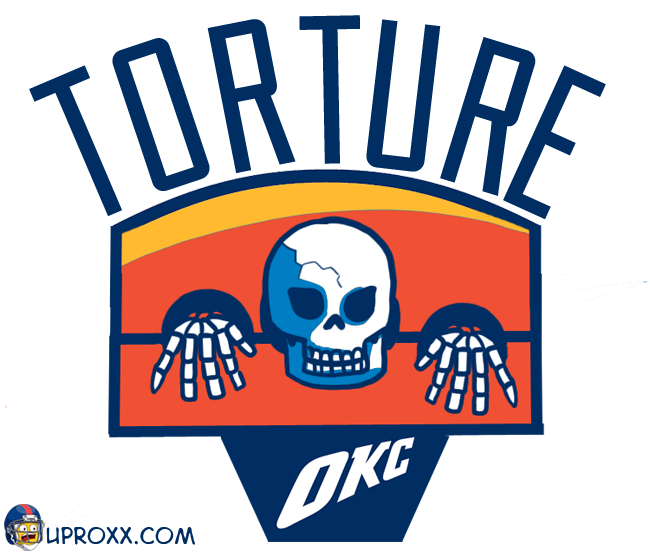 Los logos de la NBA al estilo Halloween, oklahoma