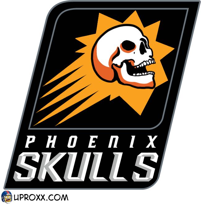 Los logos de la NBA al estilo Halloween, phoenix